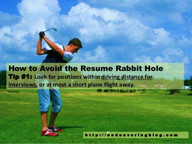 how to avoid the resume rabbit hole  top 10 tips