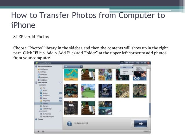 how to download photos from iphone to usb