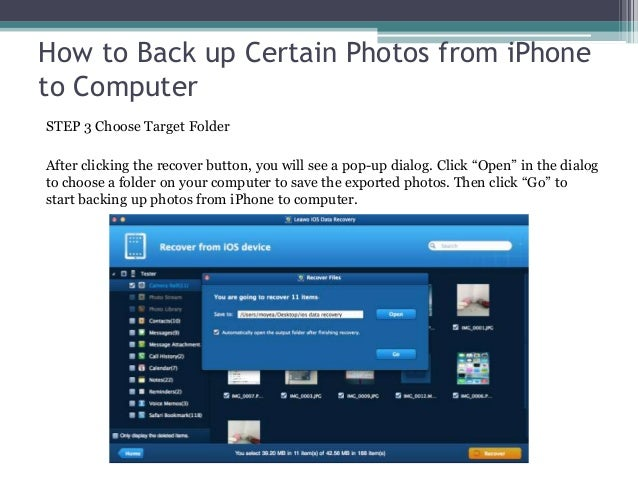 how to back up an iphone how to back up certain photos from iphone to computer 18566