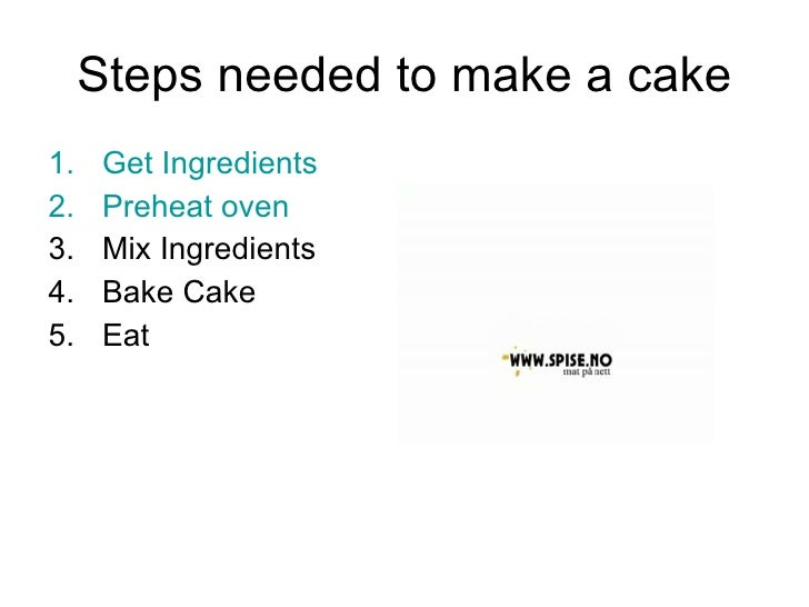 Steps To Bake A Cake