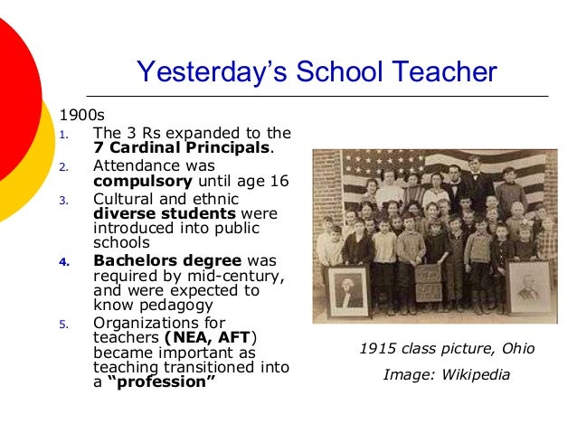 """being a teacher in the 21st 2 chapter 1 being a teacher in the 21st century fifty years ago in a small-town classroom, a teacher with a vision for the future told her students, """"by the end of."""