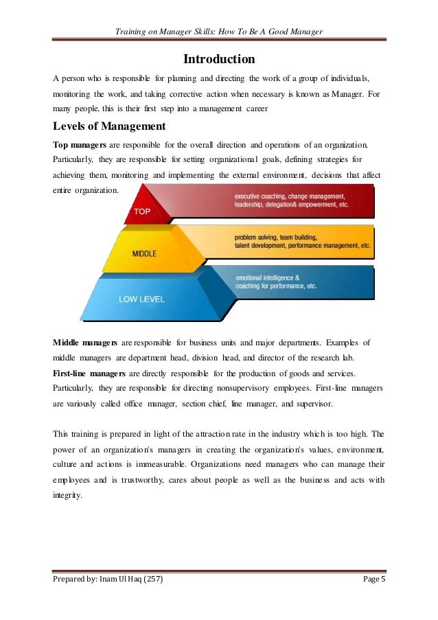 How to become a good manager pdf