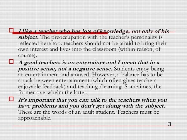 How to be  a good teacher Slide 3