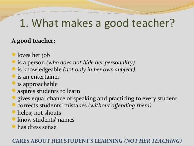 How to be a good teacher & activities to promote speaking