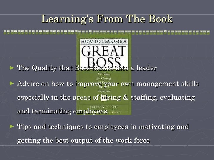 to be the perfect manager The 9 books every boss should read  everyone's experience at work differs so greatly from the idealized picture that's provided in books like the effective manager and  it's perfect defense .