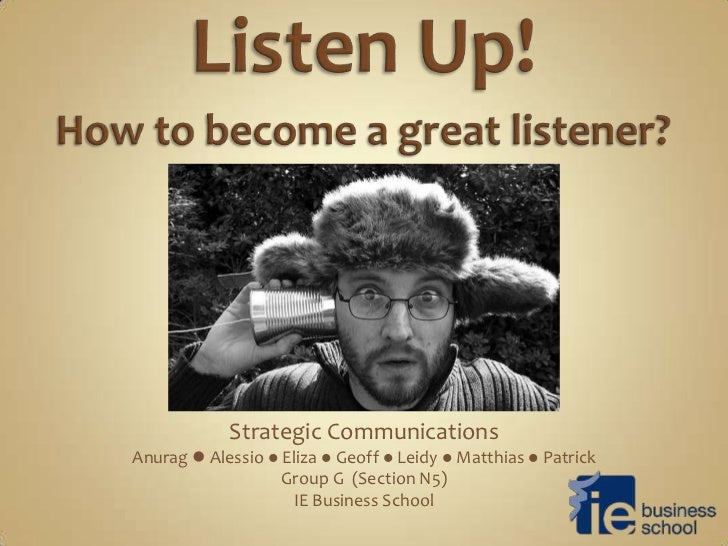 Strategic CommunicationsAnurag  Alessio  Eliza  Geoff  Leidy  Matthias  Patrick                   Group G (Section N...