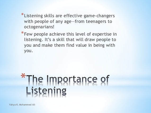 How to be a great listener Slide 3