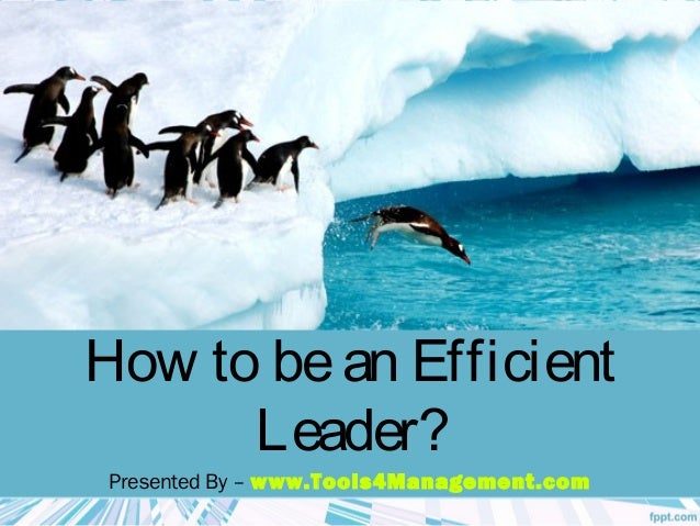 How to bean Efficient Leader? Presented By – www.Tools4Management.com