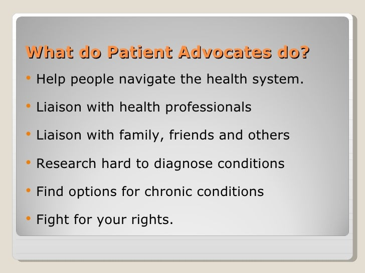 Image result for patient advocate