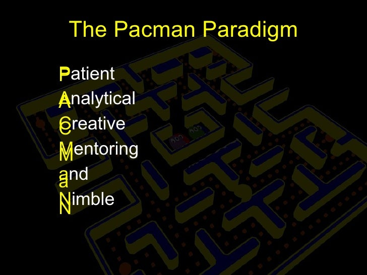 The Pacman Paradigm P atient A nalytical C reative M entoring a nd N imble P A C M a N