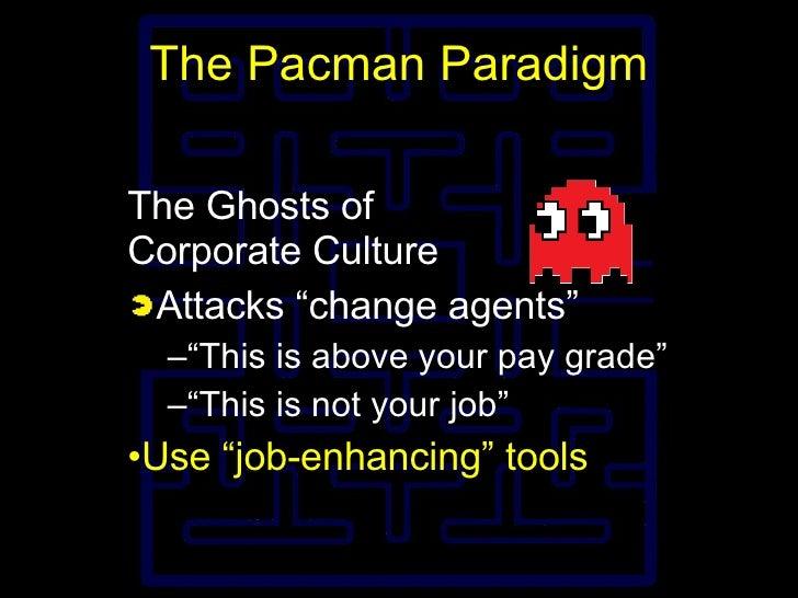 """The Pacman Paradigm <ul><li>The Ghosts of Corporate Culture </li></ul><ul><li>Attacks """"change agents"""" </li></ul><ul><ul><l..."""