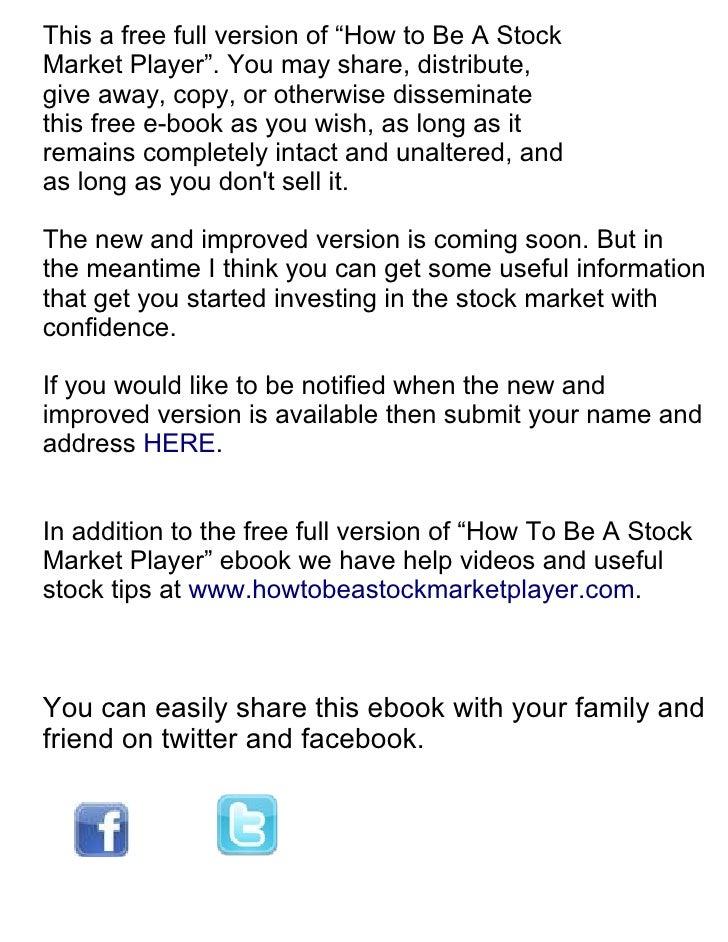 Stock Market Basics Ebook Full Version