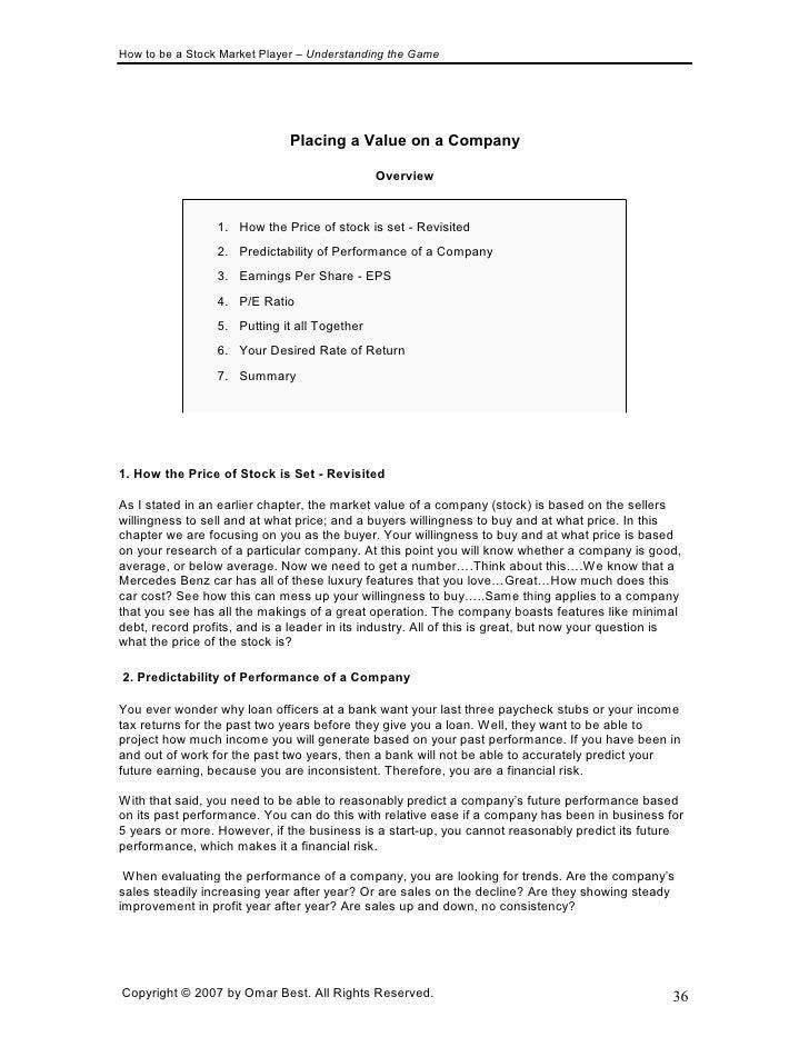 Stock market basics ebook full version 35 37 fandeluxe Gallery