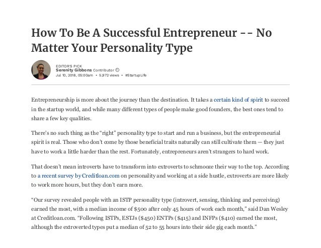 How to be a successful entrepreneur - no matter your