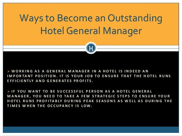 hotel general manager 2 ways to become