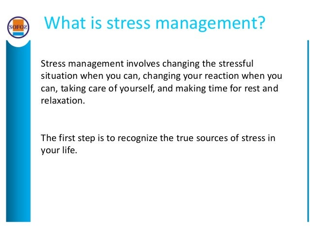 Why stress happens and how to manage it