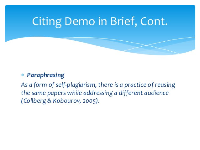  Paraphrasing As a form of self-plagiarism, there is a practice of reusing the same papers while addressing a different a...