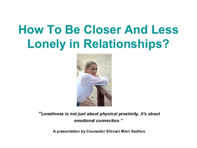 how to be less lonely