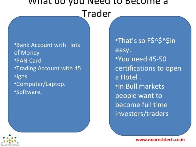 Becoming a Full Time Trader