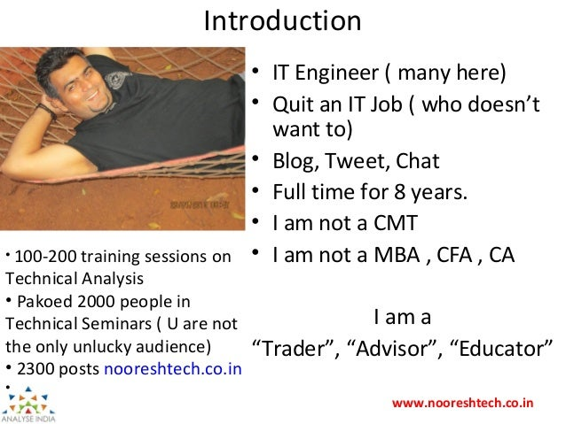 How to become a Full Time Trader - Nooresh Merani  Slide 2