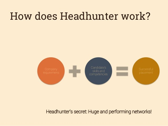 how to become a head hunter