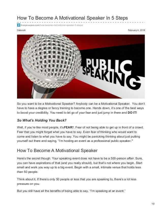 How To Become A Motivational Speaker In 8 Steps