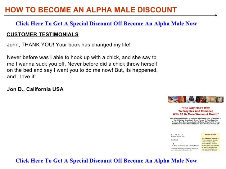 How to become a alpha male