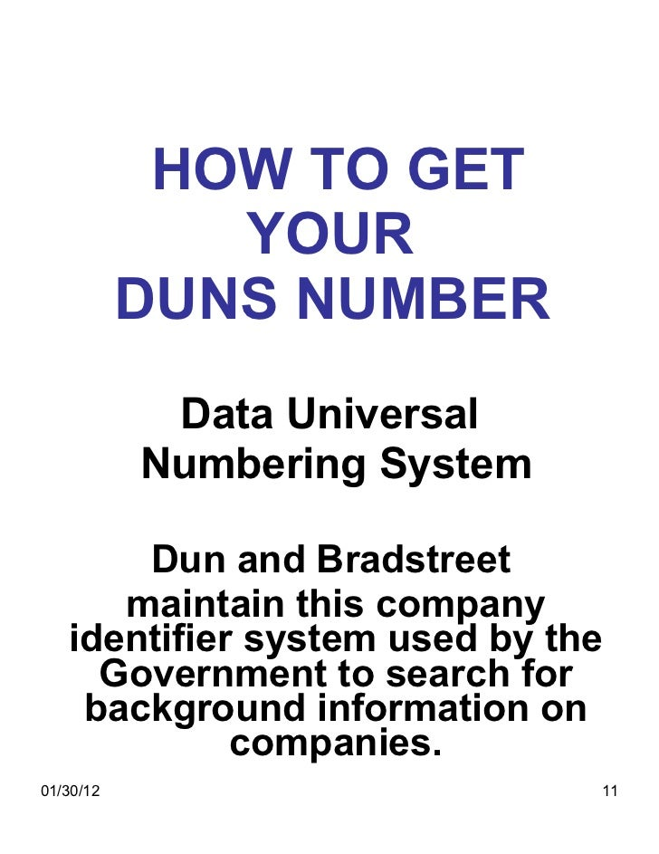 D-U-N-S Number - Business Credit Checks and Reports
