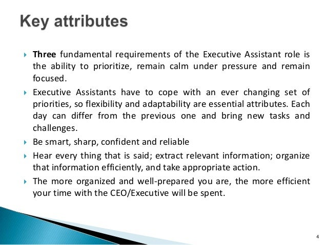 3; 4.  Three Fundamental Requirements Of The Executive Assistant ...