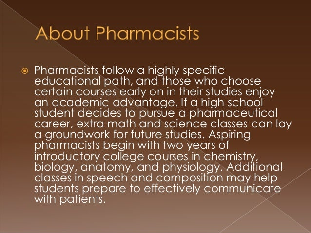 how to become a pharmacist, Human body