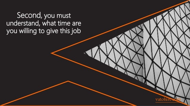 Second, you must understand, what time are you willing to give this job vatohire.com