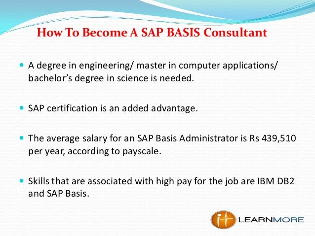 How to Become a SAP BASIS Consultant