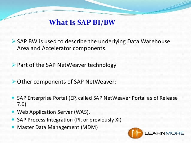 How To Become A Sap Bi Bw Consultant