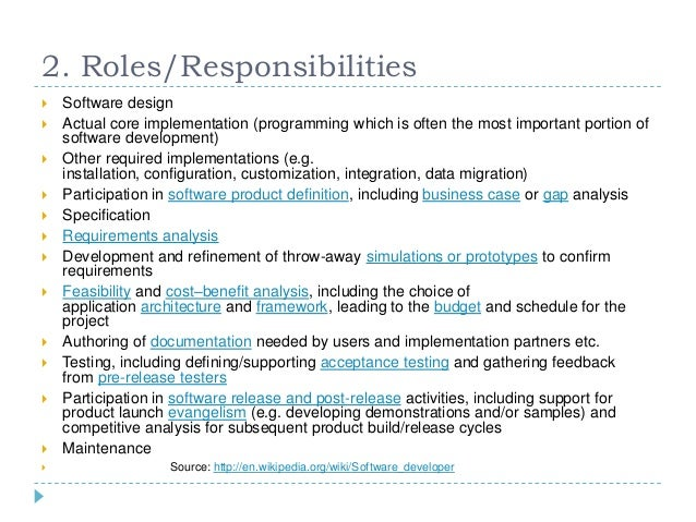 5 2 rolesresponsibilities software - Responsibilities Of A Software Engineer