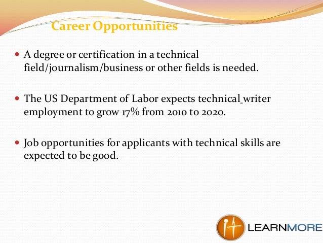 Technical writer degree online