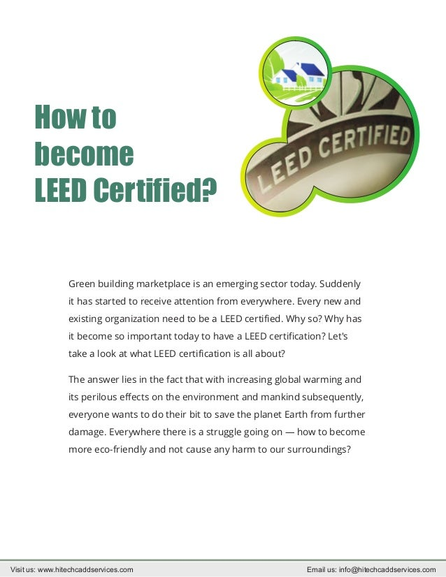 How To Become Leed Certified Get Brief Information