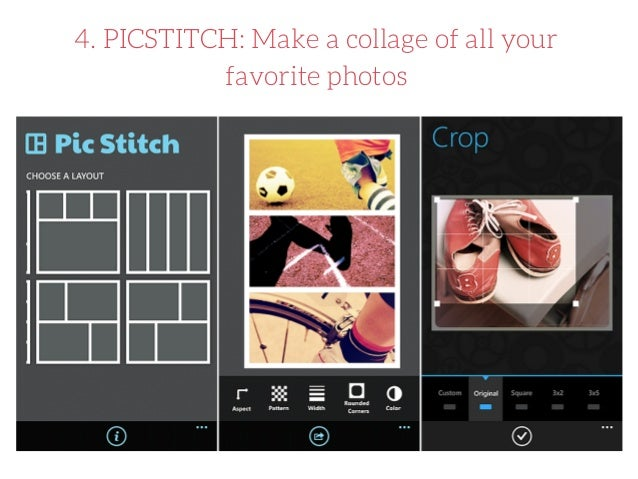 PicStitch is a free photo collage maker that allows you to combine multiple photos into one beautifully framed picture.