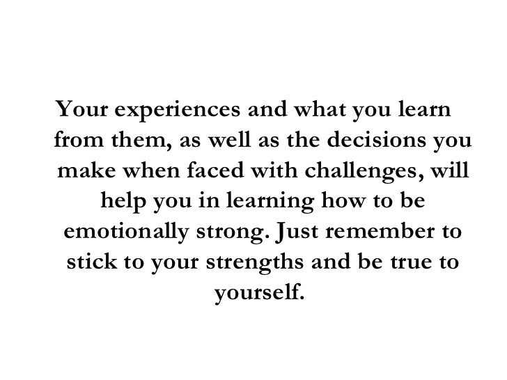 how to become emotionally strong