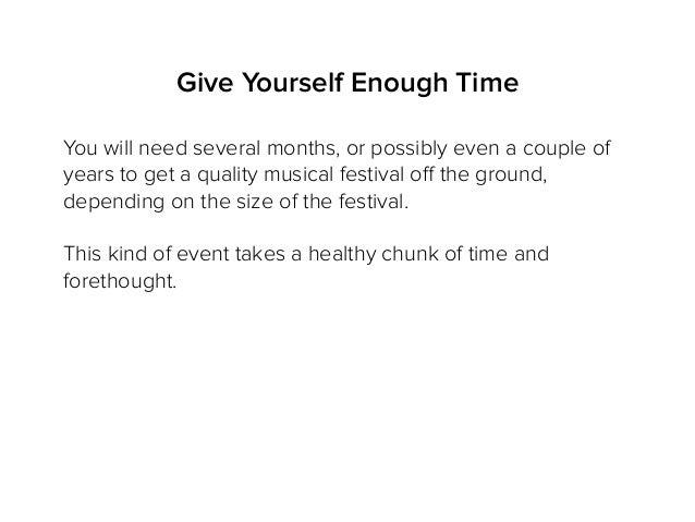 How to Begin Your Own Music Festival Slide 3