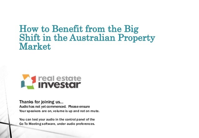 How to Benefit from the Big Shift in the Australian Property Market Thanks for joining us… Audio has not yet commenced. Pl...