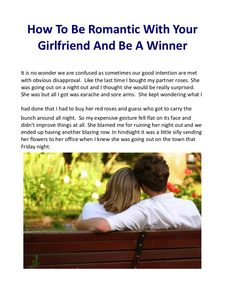 How to be a romantic girlfriend