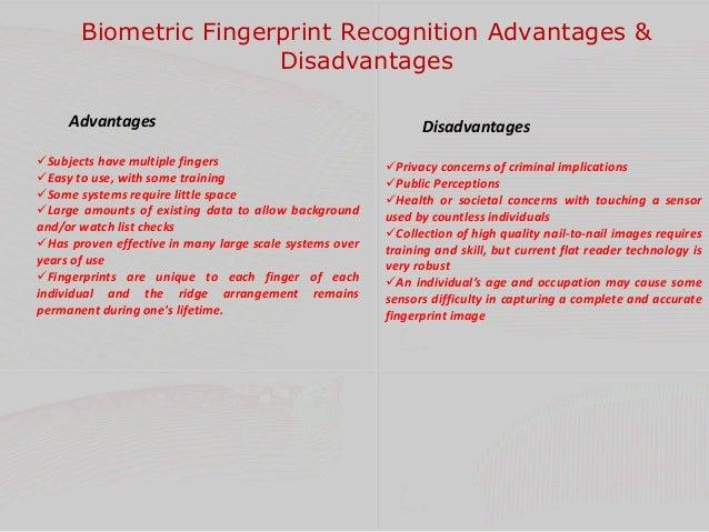 advantages and disadvantages of biometrics pdf