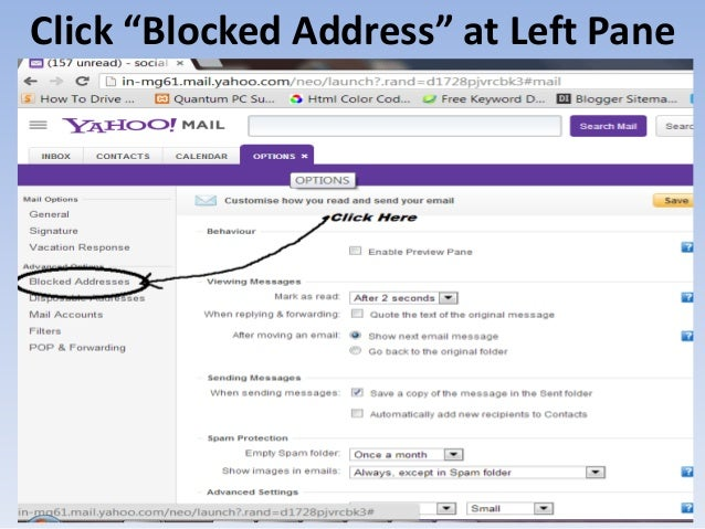 How to Block Email Ids in Yahoo and Gmail