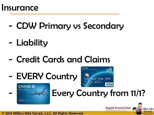 Primary Vs Secondary Car Rental Insurance
