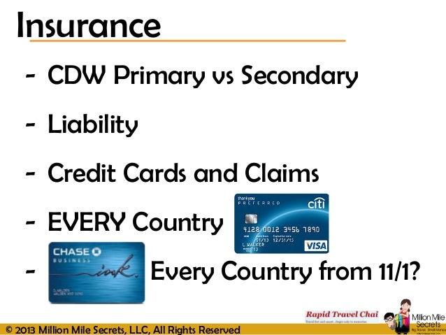 Primary Vs Secondary Insurance Car Rental
