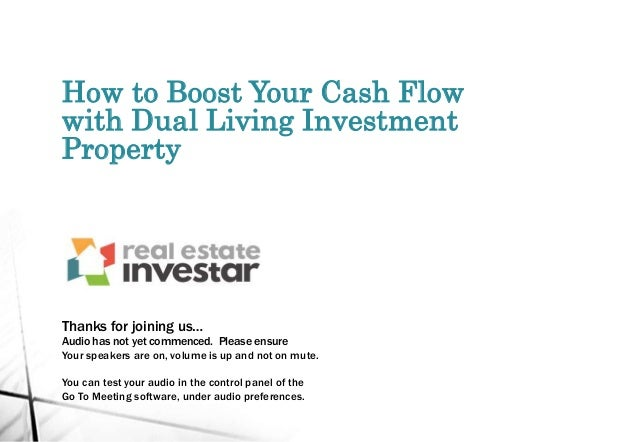 How to Boost Your Cash Flow with Dual Living Investment Property Thanks for joining us… Audio has not yet commenced. Pleas...
