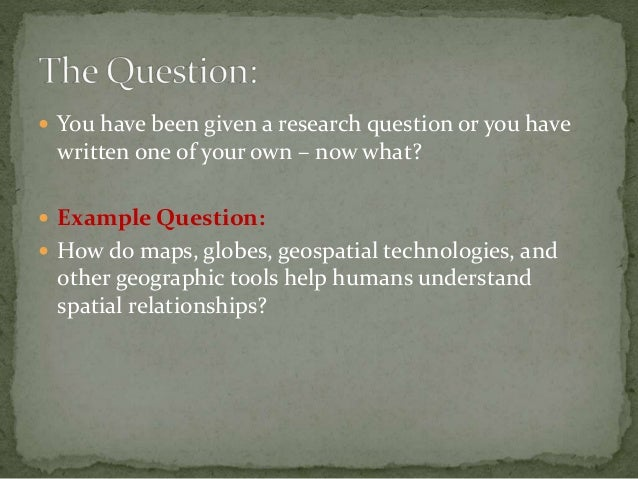 How to break down a research question Slide 2