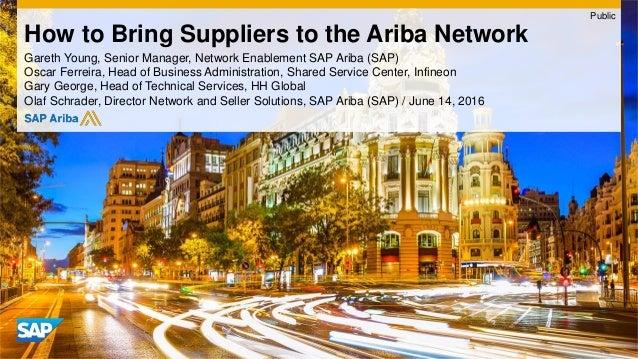 Gareth Young, Senior Manager, Network Enablement SAP Ariba (SAP) Oscar Ferreira, Head of Business Administration, Shared S...