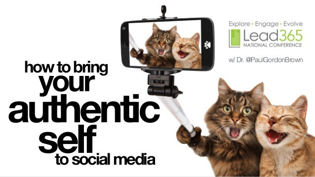 howtobring your authentic selftosocialmedia w/ Dr. @PaulGordonBrown