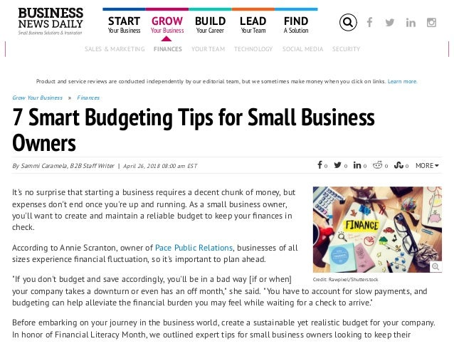 how to budget for your small business